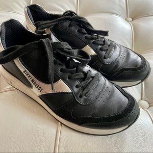 Bikkembergs sneakers black tennis shoes sz 39 8 US